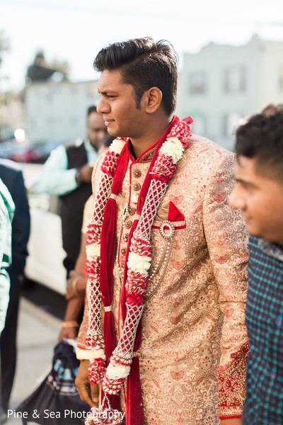 Indian groom ready to start the baraat