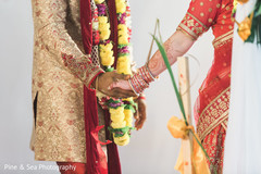 Sweet indian couple holding hands