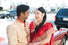 Sweet indian couple looking at each other