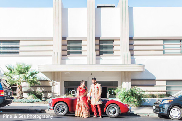 Indian newlyweds having a great time during photo session
