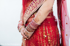 Beautiful bridal lengha embroidery work