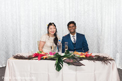 Indian couple at their sweethearts table