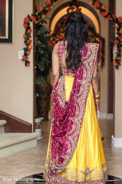 Fabulous Indian bridal pre-wedding fashion.