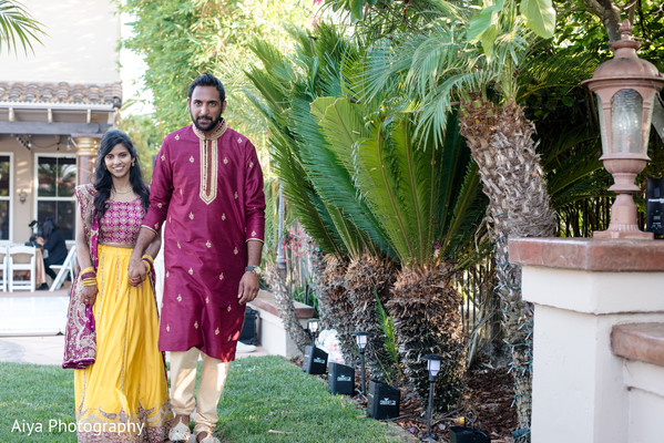 Ravishing Indian couple out doors.