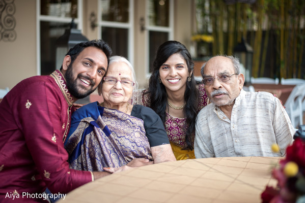 Indian couple with grand parents capture.