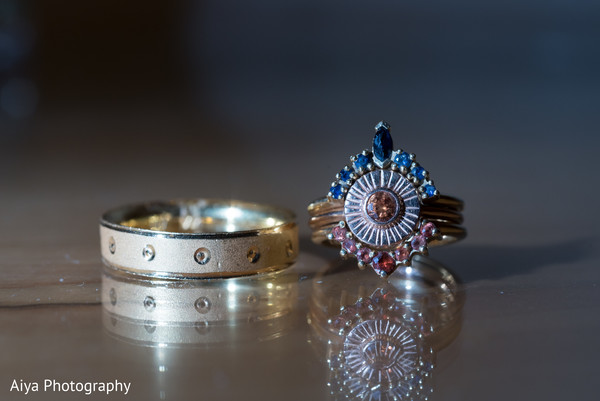 Closeup capture of Indian wedding rings.