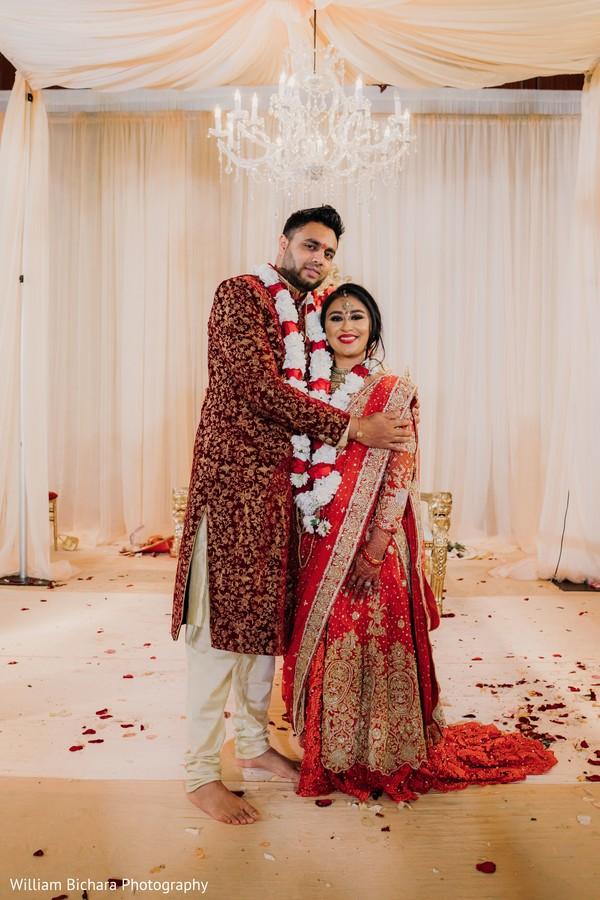 Enchanting Indian couple photography.