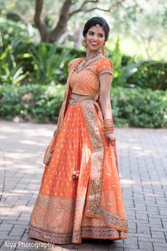 Elegant maharani's lehenga outfit.