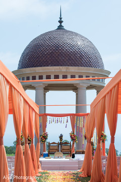 Stunning Indian wedding ceremony mandap decor.