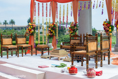 Stunning roses curtains for ceremony mandap.
