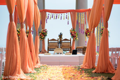 Enchanting Indian wedding ceremony flowers decor.