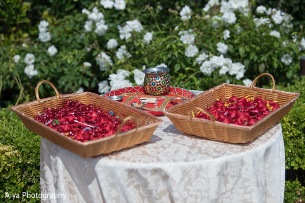 Indian ceremony ritual rose petals capture.