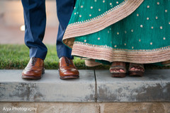 Indian couple closeup capture of reception shoes.