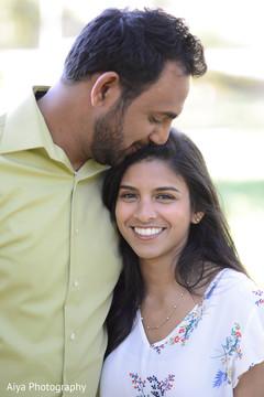 Adorable Indian couple's portrait.
