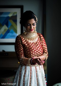 Indian bride's lengha details