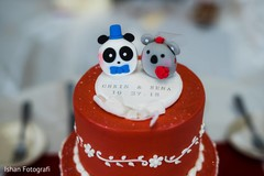 Cake with couple's names