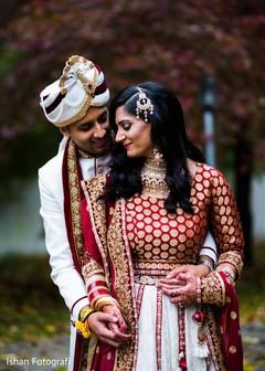 Indian bride and groom's portrait