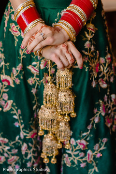 Indian bridal kalire and bangles on.