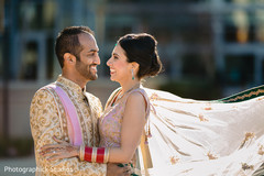 Adorable indian lovebirds portrait.