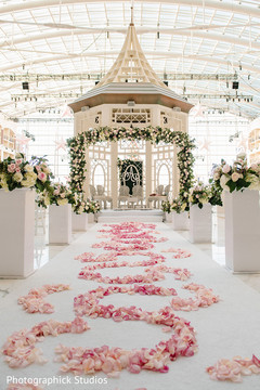 Dreamy indian wedding ceremony decor.