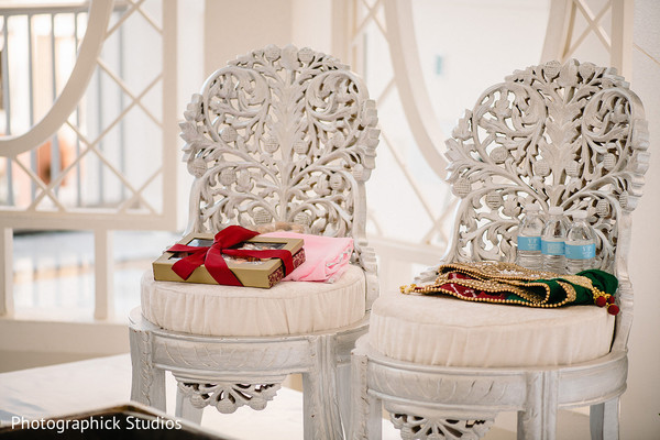 Indian wedding ceremony chairs capture.