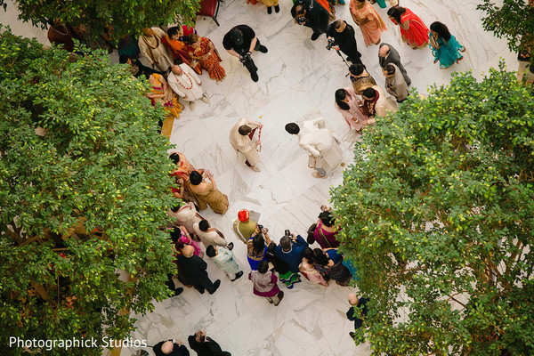 See this Indian milni pre-wedding celebration.