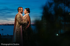 Indian couple at their photo shoot.