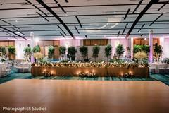 Magnificent Indian wedding dance floor setup.