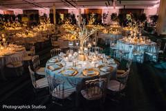 Unique Indian wedding reception table decorations.