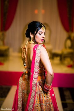 Glowing indian bride capture.