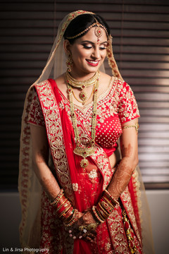 See this lovely Indian bride on her ceremony attire.