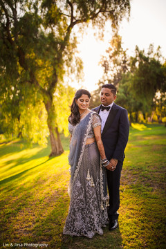 Lovely Indian couple outdoors capture.