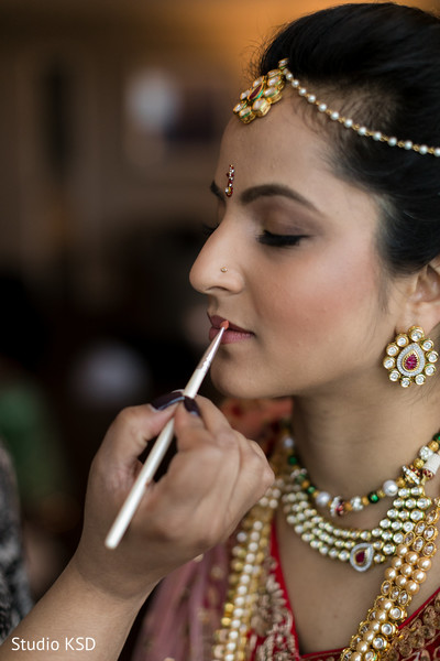 Maharani being dolled up