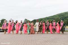 Lovely picture of Indian newlyweds and groomsmen