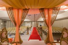 Indian wedding stage decor detail