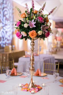 Beautiful floral arrangement on the table