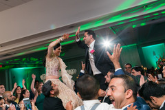 Indian bride and groom having a great time