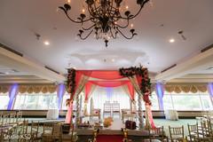 Elegant Indian wedding ceremony setup.