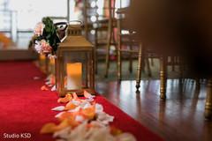 Beautiful Indian wedding lantern aisle decor.