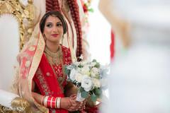 Glamorous Indian bride at her wedding.