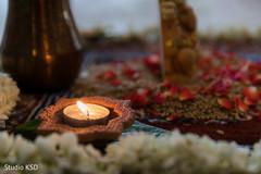 Dreamy Indian wedding candle decor.