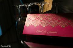 Elegant Indian wedding invitations capture.