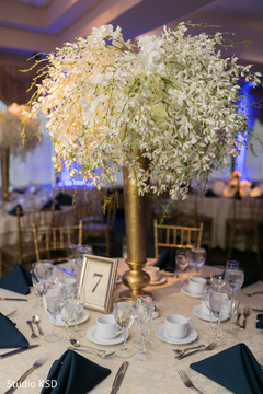 Marvelous Indian wedding floral centerpiece.