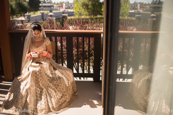 Amazing shot of Maharani prior to the ceremony