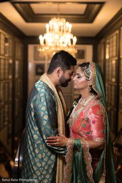 Romantic shot of Indian couple