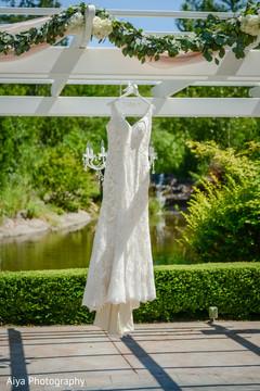 Magnificent Indian bridal white wedding dress.