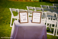 Lovely Indian wedding ceremony signs.