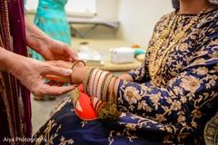 Indian bride wearing the beautiful lengha