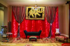 Beautiful mehndi party stage