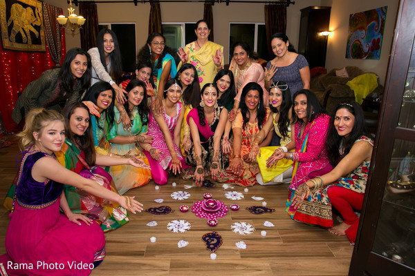 Ladies having fun during mehndi night